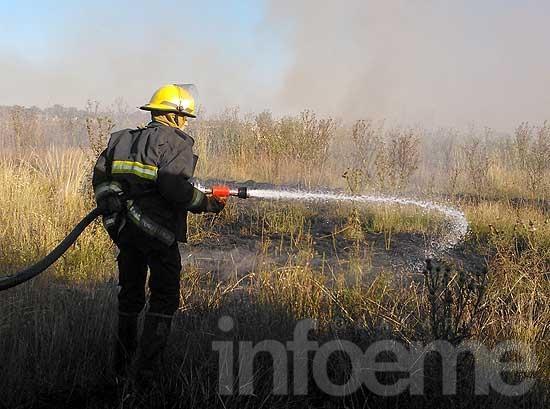 Agitada jornada de Bomberos: incendio de pastos y en una casa