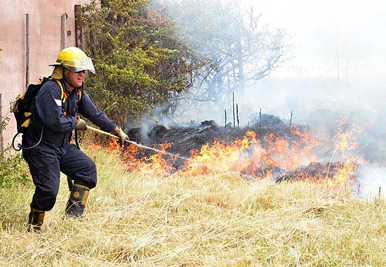Incendios de pastos en la Ciudad, Hinojo y Sierra Chica