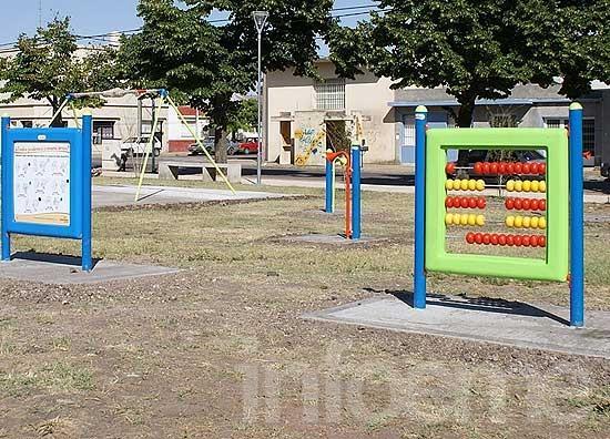 Nuevos juegos infantiles en la Plaza Belgrano