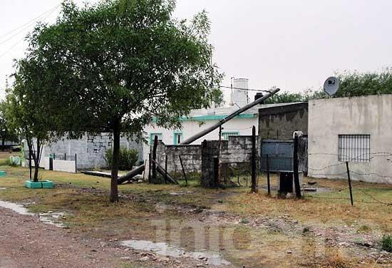El temporal afectó instalaciones eléctricas en varios sectores