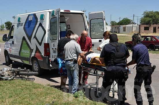 Motociclista se accidentó en la rotonda del monumento al Trabajo