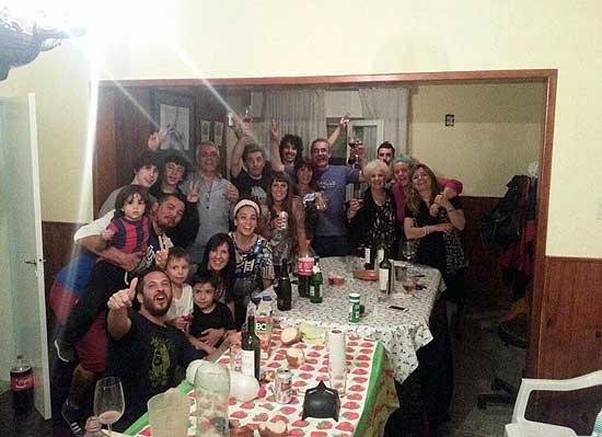 La familia Carlotto recibió el año en Olavarría