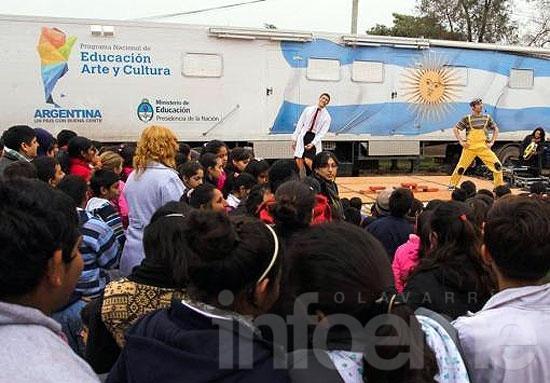 "Llegan las ""Aulas Rodantes"" a Sierras Bayas"