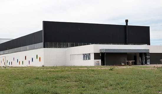 Recta final en la construcción del nuevo gimnasio albinegro