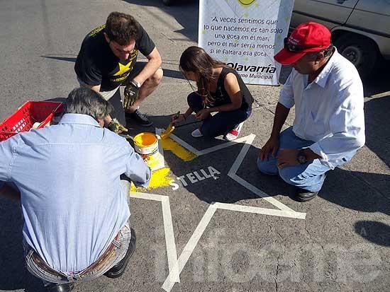 Pintaron la primera Estrella Amarilla del 2015