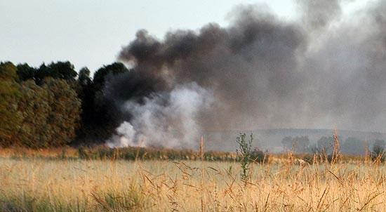 Se quemaron cerca de cuarenta cubiertas en desuso y pastizales