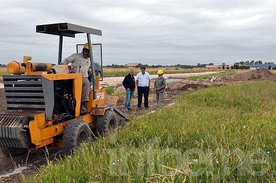 Comenzaron las obras de construcción de la red de gas para el futuro Parque Empresarial