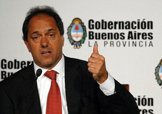 El gobernador Daniel Scioli estará este jueves en Olavarría