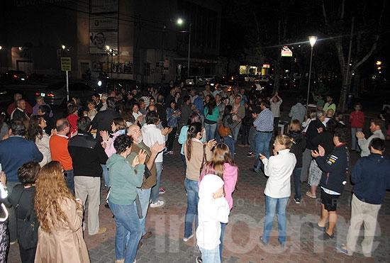 Movilización en el centro tras el fallecimiento de Nisman