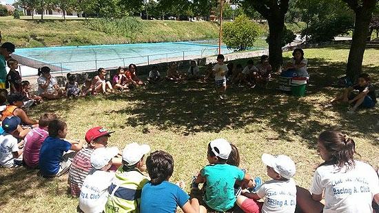 Charlas de Educación Ambiental para chicos de la Colonia de Racing