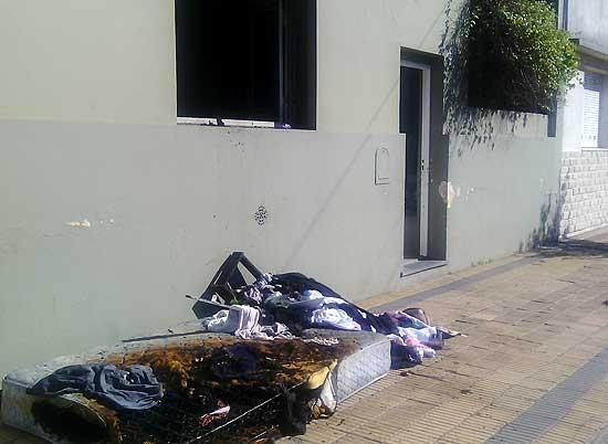 Se incendió una casa mientras los moradores no estaban