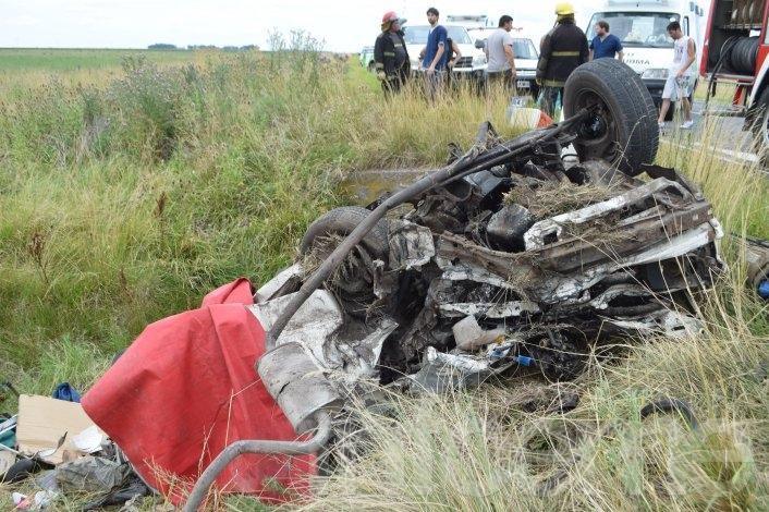 Cuatro personas murieron en un trágico accidente en Ruta 51