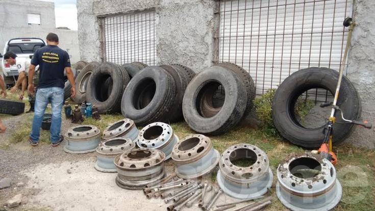 Desarman banda local que robaba ruedas de camiones