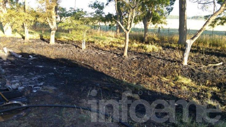 Las imágenes del incendio del micro en ruta 226