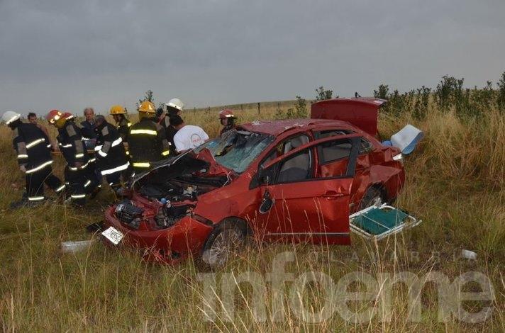 Una joven olavarriense grave en un accidente