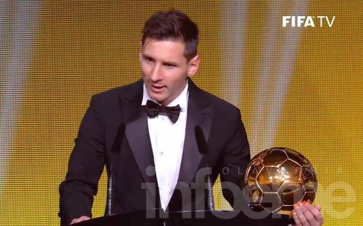 Lionel Messi ganó el Balón de Oro por quinta vez