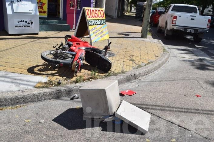 Dos accidentes en menos de 15 minutos: dos hombres heridos