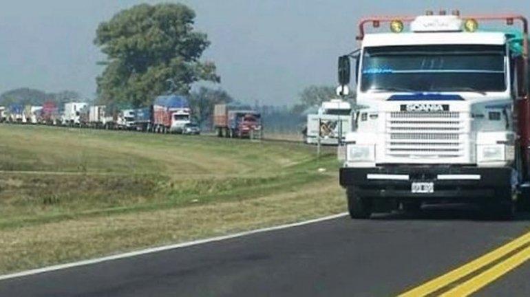 Restricción de camiones en rutas y accesos por cambio de quincena