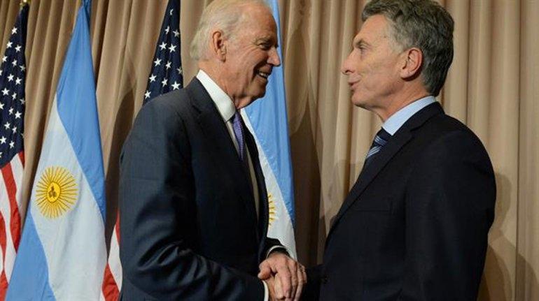 Mauricio Macri se reunió en Davos con el vicepresidente de EE.UU., Joe Biden