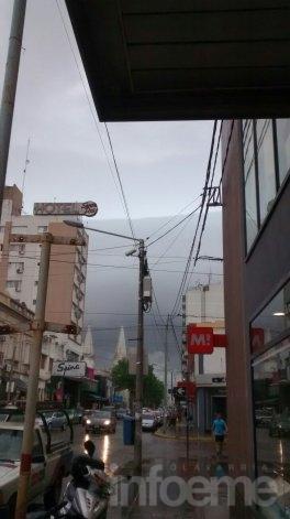 Los lectores, la tormenta y la lluvia sobre la ciudad
