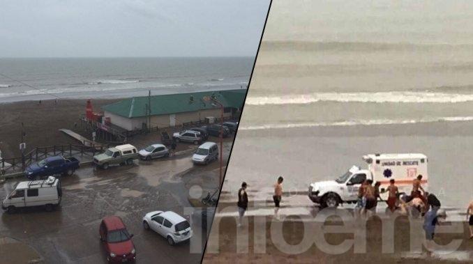 Un rayo cayó sobre una playa de Monte Hermoso: hay seis heridos