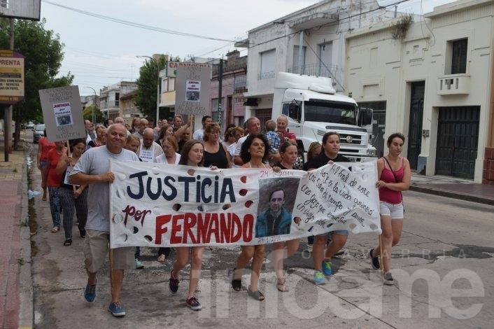 Marcha en reclamo de justicia por un hombre fallecido en un siniestro vial