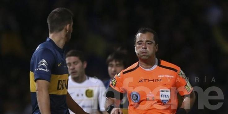 Ceballos vuelve después del polémico penal que cobró para Boca