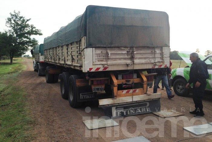 Se detectó un camión con más de 30 mil kilos de sobrecarga