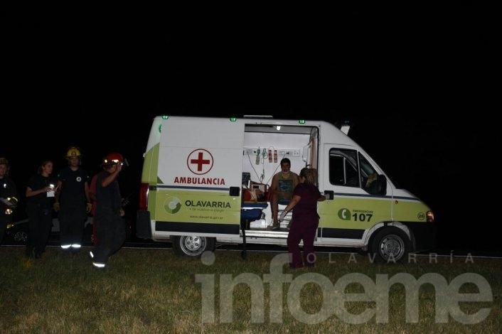 El traslado de los heridos del choque en la Ruta 226