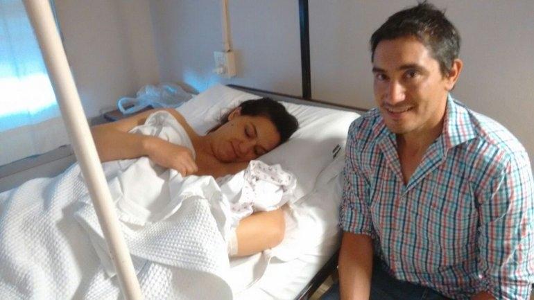 Helena es la primera bebé del 2017en Olavarría