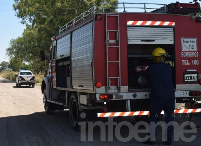 Dos salidas de Bomberos por incendios forestales