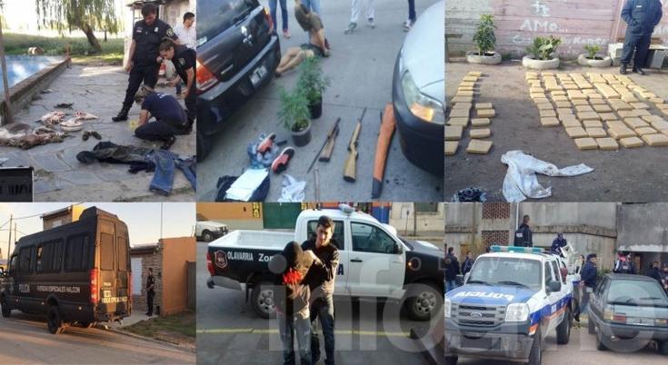 Aprehendidos, armas y droga: los números que dejó el 2016