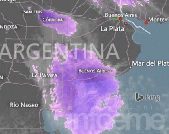 Ahora: alerta por tormentas fuertes en Olavarría
