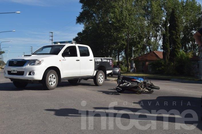 Motociclista herido al chocar con un camión