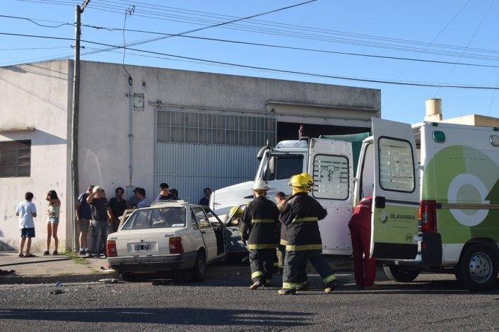 Accidente: el despliegue de Bomberos, Policía y personal médico