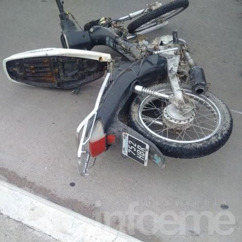 Motociclista sufrió graves heridas en violento accidente