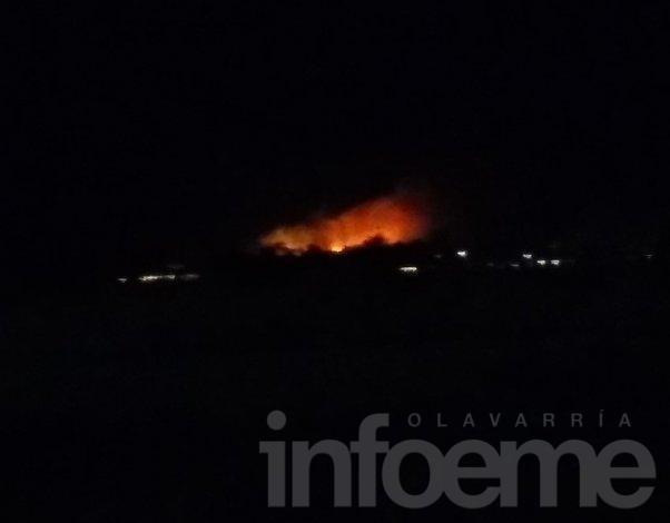 Voraz incendio en el Cerro Fortabat