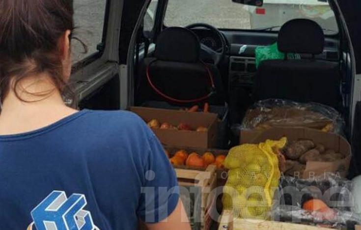 Enorme gesto: pareja olavarriense donó toda la mercadería de su verdulería