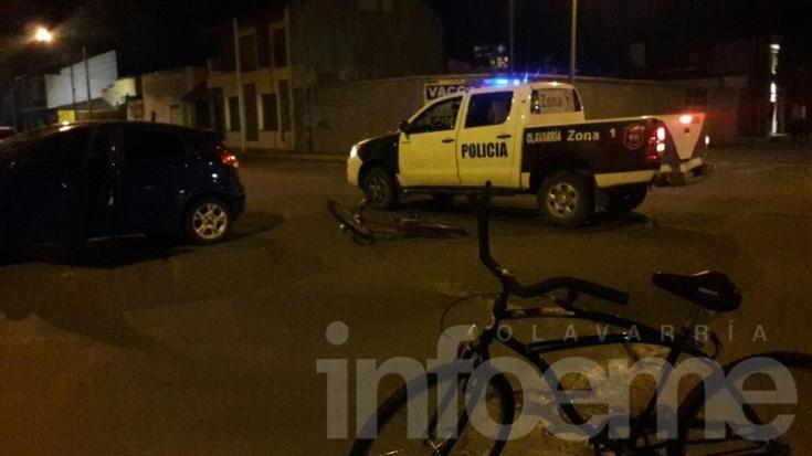 Accidente: dos ciclistas fueron trasladados al Hospital