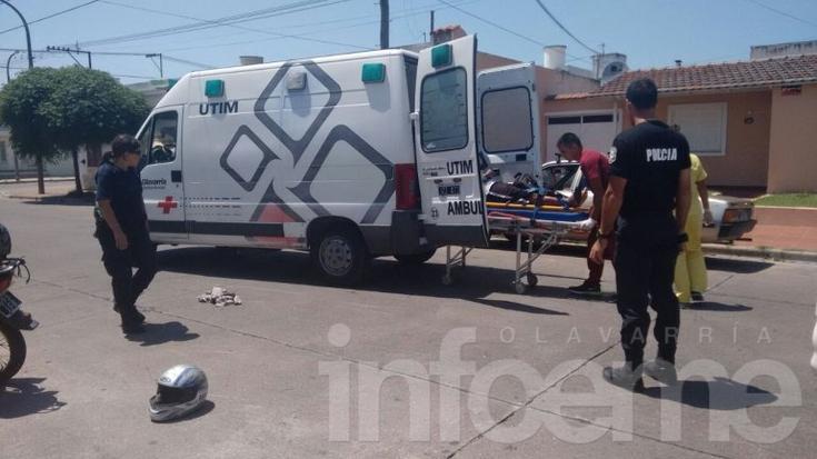Accidente: un hombre sufrió heridas y fue trasladado al Hospital