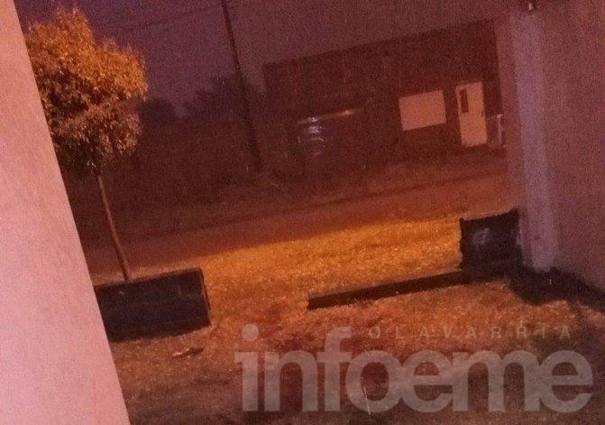 En Olavarría también cayó granizo durante la madrugada