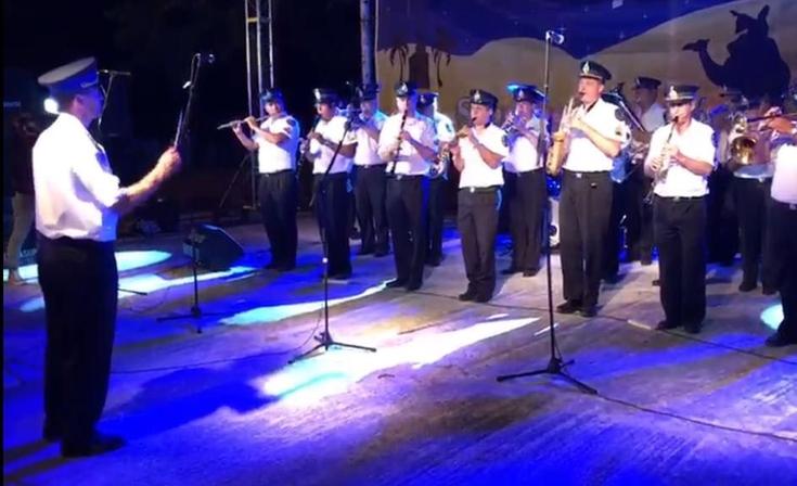 La Banda de la Policía Federal en la Fiesta de Reyes Magos