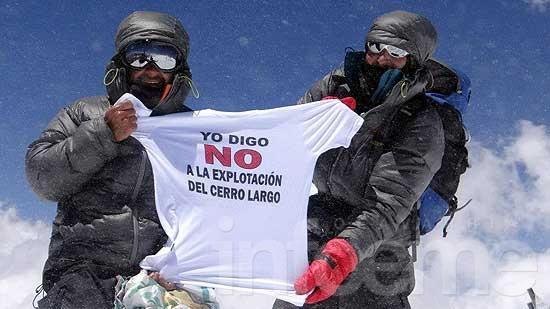 El reclamo del Cerro Largo llegó a la Cordillera de los Andes