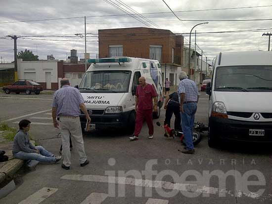 Mujer resultó herida en un accidente