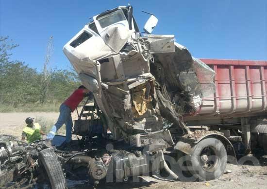 Un muerto tras choque de camiones en una cantera
