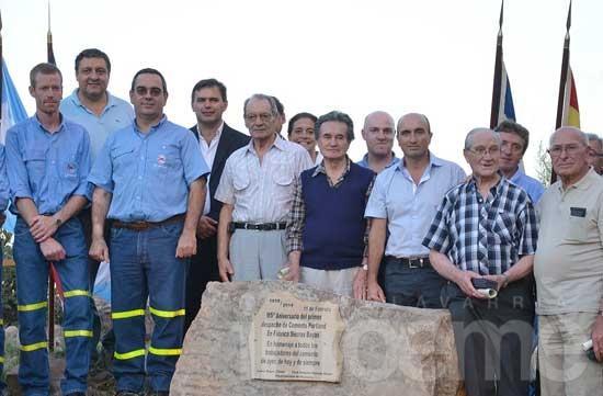 Celebraron los 95 años del primer despacho de cemento