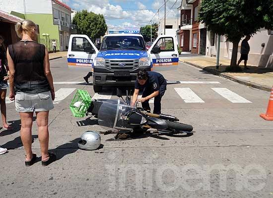 Motociclista herido en accidente en microcentro