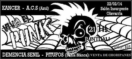 Recital de punk rock en Insurgente