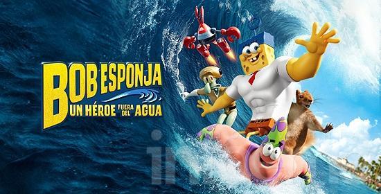 """Estrena en  3D """"Bob Esponja: Un Héroe Fuera del Agua"""""""
