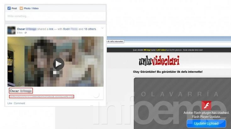 Un falso video para adultos infecta a miles en Facebook